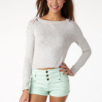 High-Waist Mint Wash Short