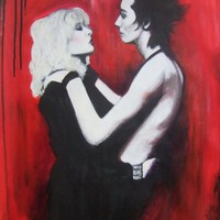 Sid and Nancy A4 Print on canvas paper by PrincessOfPainting