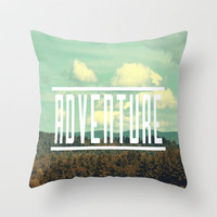 Adventure Throw Pillow by Rachel Burbee | Society6