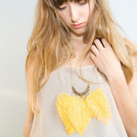Noemiah feather necklace
