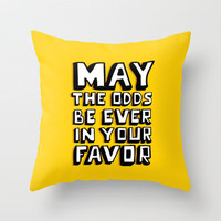 Happy Hunger Games! Throw Pillow by Sara Eshak | Society6