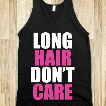 C - Long Hair Don't Care (white, pink)