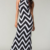 Chevron Turtleneck Maxi Dress  Tanny&#x27;s Couture LLC