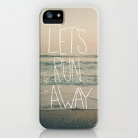 Let's Run Away by Laura Ruth and Leah Flores iPhone Case by Leah Flores | Society6