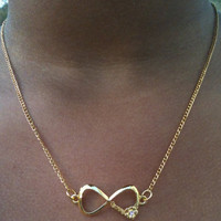 Petite and Sexy Gold Infinity Statement Necklace
