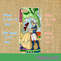 The beauty and Beast - iPhone 4 case , iphone 5 case , ipod touch 4 / 5 case, samsung galaxy S3 / S2 case in black or white