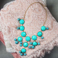 Calypso Necklace in Turquoise, Sweet Bohemian Jewelry