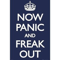 Amazon.com: Now Panic and Freak Out Poster 24x36 UK England 33566 Poster Print, 24x36: Home & Garden