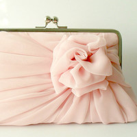 RESERVED For Mine' - Dusty Pink Rose Clutch - Size Large - Made To Order - 1 more in this color