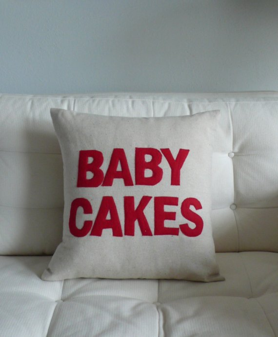 $75.00 BABY CAKES  terms of endearment handmade appliqued by SewEnglish