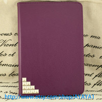 iPad mini Case, iPad mini Cover ,iPad,purple case with silver stud,studded  mini ipad case,case for mini