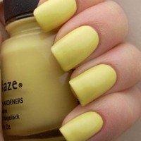 Amazon.com: China Glaze Nail Polish Lacquer Lemon Fizz # 80941 14ml 0.5oz: Health & Personal Care