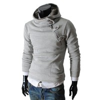 Men's casual luxury buckle hoodie sweatshirt(2)