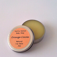 Organic Orange Cocoa, Cocoa Butter Lip Balm, Natural