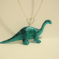 Sparkly Dinosaur Necklace