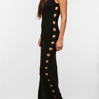 Lisa Maree Heart Cutout Jersey Maxi Dress