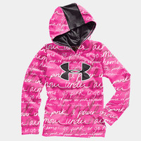 Girls UA Big Logo Printed Armour Fleece Storm Hoody | 1232212 | Under Armour US