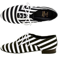 American Apparel - Bobby Stripe Lace-Up Shoe