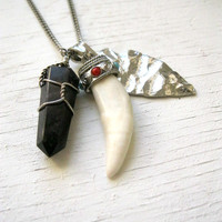 Arrowhead Amulet Coyote Fang Arrowhead and by LarkinAndLarkin