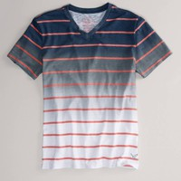 AE Faded Stripe T | American Eagle Outfitters