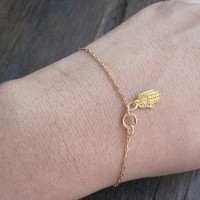 My Dainty Hamsa Bracelet by charlieandmarcelle on Etsy