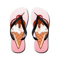 Icecream Cone Flip Flops> Fancy Feet