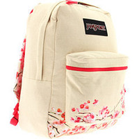 Jansport Canvas Cherry Blossom Backpack