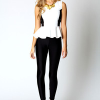 Rhian Illusion Peplum Top