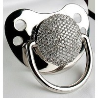 Amazon.com: 3ct Diamond Pacifier (278 Pave Set Diamonds): Baby