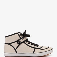High-Top Canvas Sneakers | FOREVER 21 - 2000035711