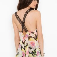 Laced Floral Tank in  What's New at Nasty Gal