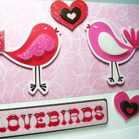Handmade Valentine Card Lovebirds by MissTanDesigns on Etsy