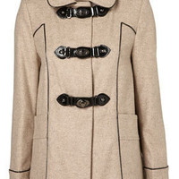 Metal Clasp Hooded Coat - Duffle Coats - Coats  - Apparel - Topshop USA