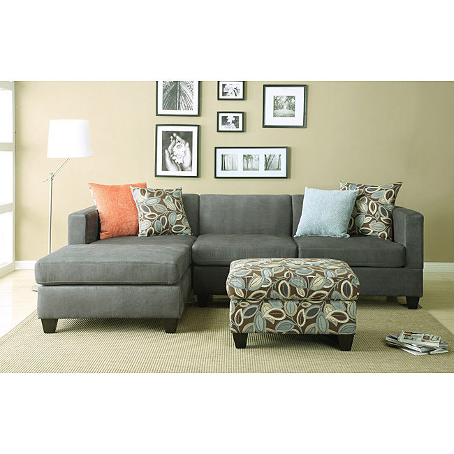 Anthony Charcoal Sectional Sofa Set | Overstock.com