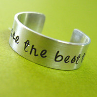 Personalized Quote Ring - Aluminum Adjustable Ring