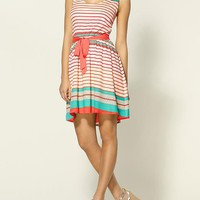 Pim + Larkin Striped Belted Dress | Piperlime