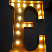 Vintage Marquee Lights Letter E by VintageMarqueeLights on Etsy