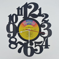 Vinyl Record Wall Clock (artist is Disneyland)