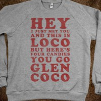 Glen Coco Call Me Maybe (Sweater)-Unisex Heather Grey Sweatshirt