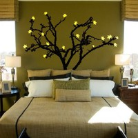 Stickerbrand Vinyl Wall Art Decal Sticker Tree Leaves Blossom (6ft Tall) #141A