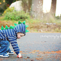 Children&#x27;s Dinosaur Hoodie by SwankyPankyDesigns on Etsy