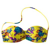 Xhilaration® Juniors Bandeau Swim Top -Multicolor Floral Print