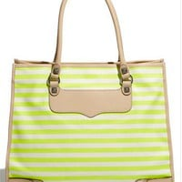 Rebecca Minkoff &#x27;Striped Diamond&#x27; Canvas Tote | Nordstrom