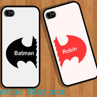 Batman &amp; Robin Case , Couple iPhone Case , iPhone 5 Case , iPhone 4 Case , iphone 4s case , Plastic hard case , Valentine