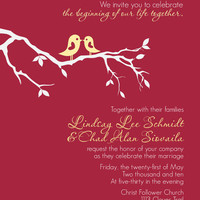 Wedding invitation by lindsayleedesign