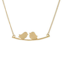 2 Birds On Branch Necklace