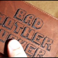 Pulp Fiction BMF Embroidered Leather Wallet