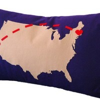 Sending All My Love to You Custom Pillow - Perfect for Long Distance Couples! - Whimsical & Unique Gift Ideas for the Coolest Gift Givers