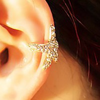 Star Fish Sparkly Fashion Single Ear Cuff | LilyFair Jewelry