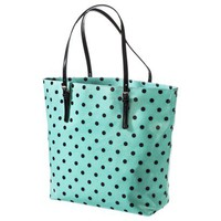 Merona Polka Dot Tote Handbag - Mint